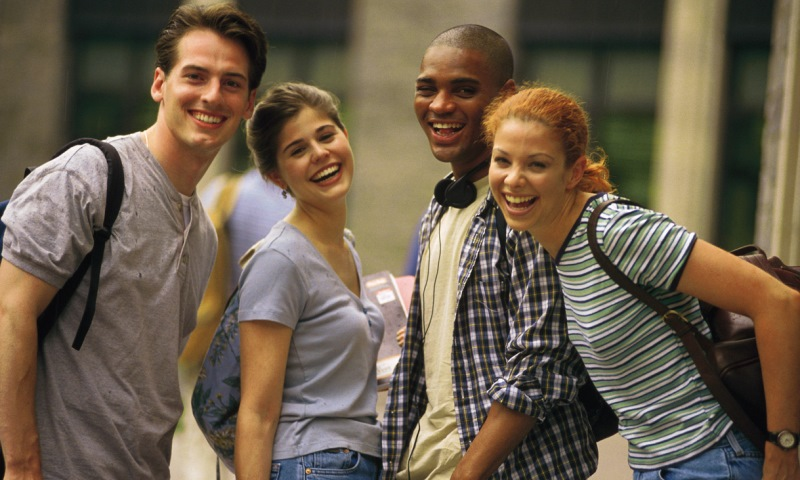 Diverse College Students Smiling