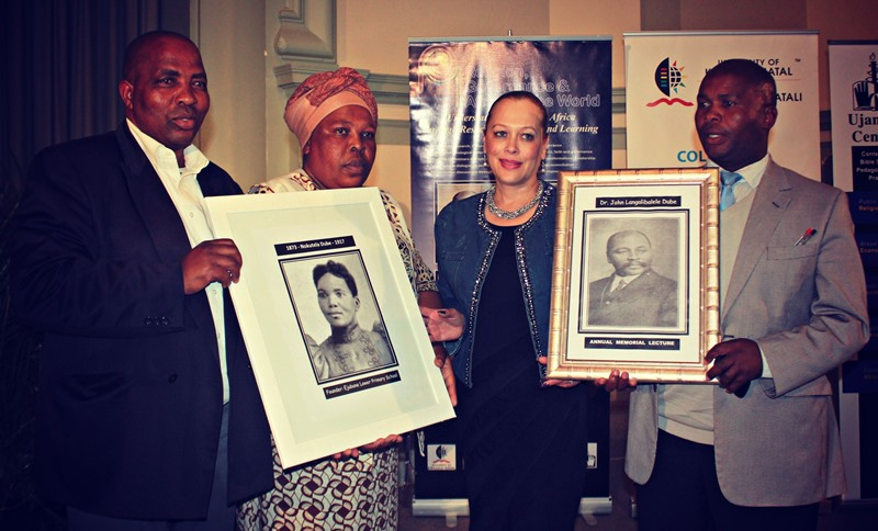 DVC handed over the photograph of Nokuthela Dube to the school principals of the Incwadi and Ejubane Schools