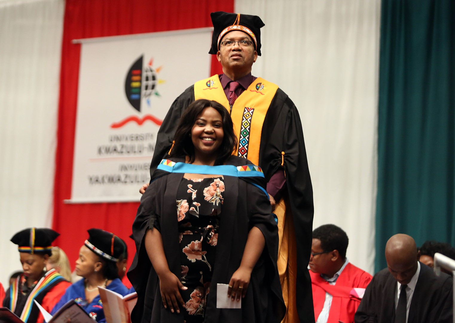 Ms Mathabo Duma graduates with her Masters in Arts.