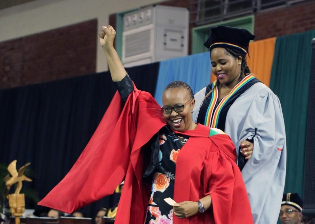 Dr Nontobeko Buthelezi graduates with her PhD in Psychology.