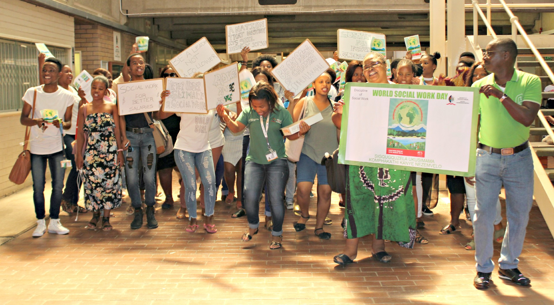 Highlights from World Social Work Day, celebrated by staff and students at UKZN.