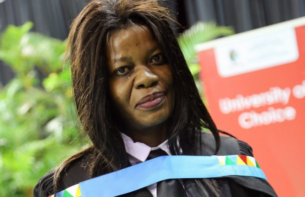 Student defies disability to graduate from UKZN