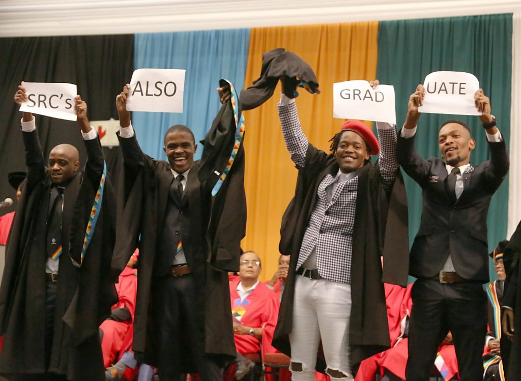 UKZN SRC Members celebrate graduation success