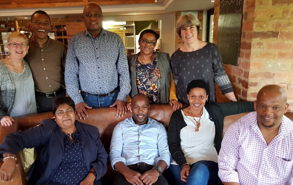 Education staffers honoured at celebratory lunch for achieving their PhD's.