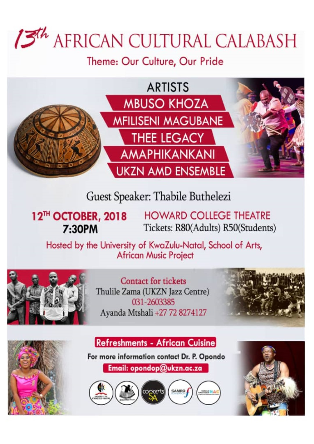 UKZN to host 13th Annual African Cultural Calabash & African Cuisine Event