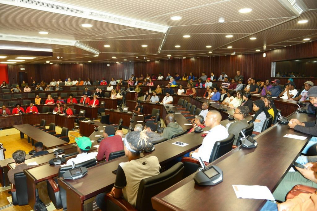 A packed UKZN Senate Chamber for the inaugural lectures