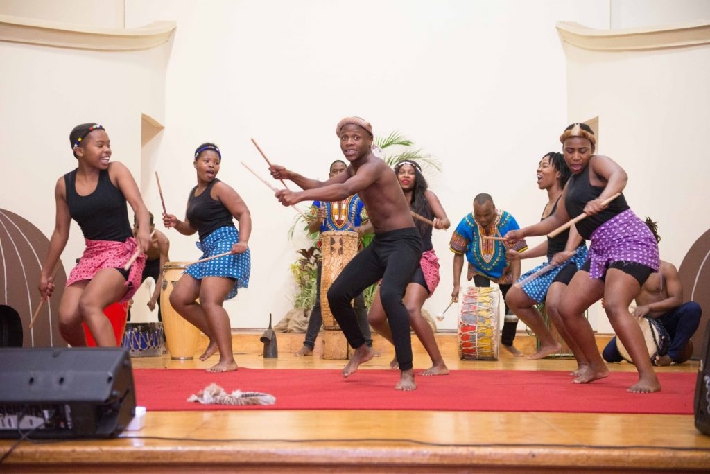 African Music and Dance Students perform onstage