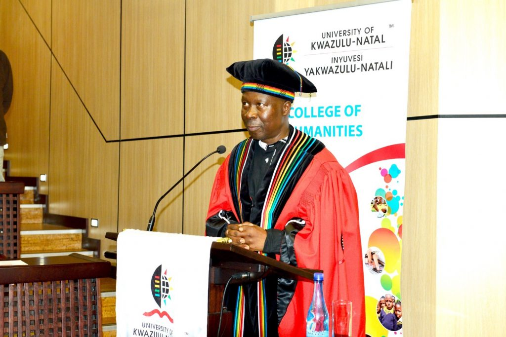 College DVC Prof Nhlanhla Mkhize officiates the inaugural lectures