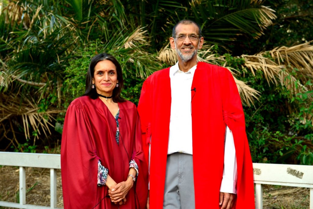 Professors Kalpana Hiralal and Goolam Vahed (Large)