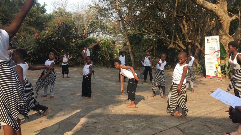 Standing Outside choreographed by Gcina Shange performed by William Clark Gardens Dance Programme at Jomba2018 youth fringe