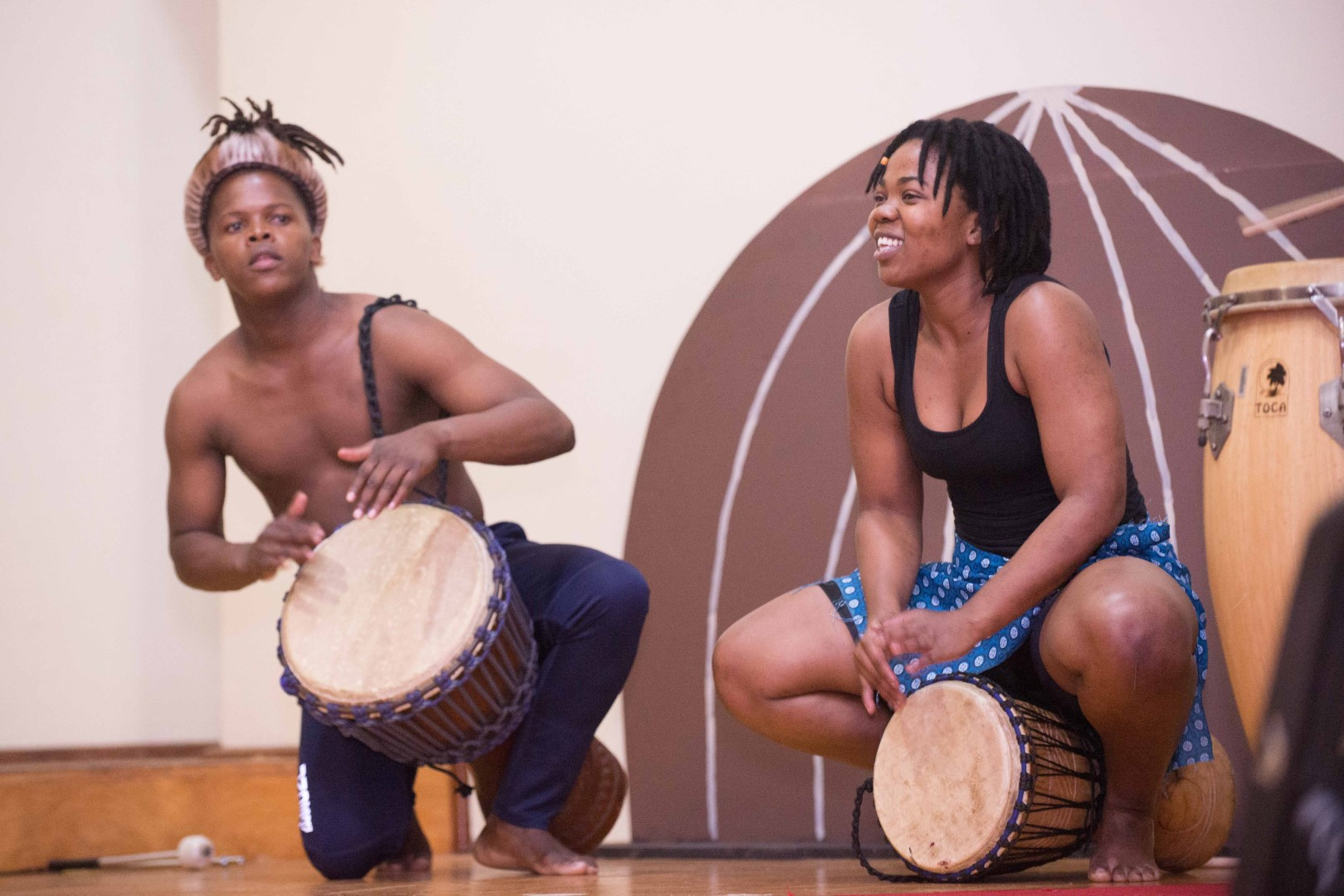 UKZN AMD Ensemble students opened the concert with vibrant percussion