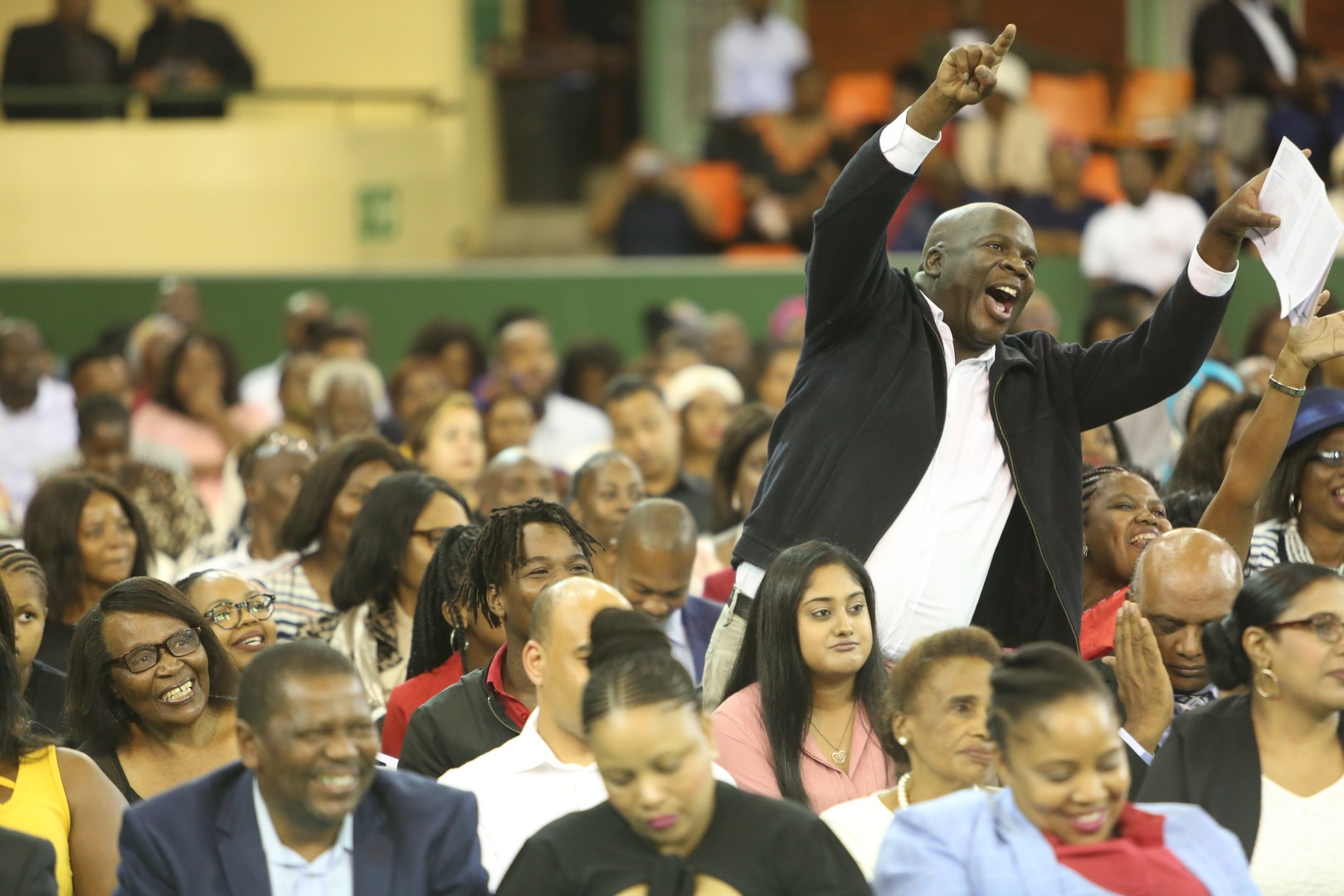 An excited father during the UKZN graduation