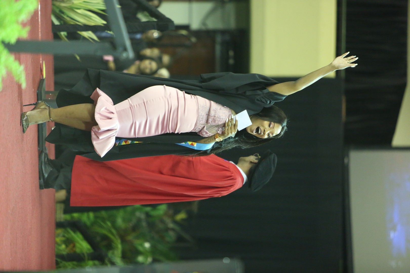 Andiswa Diana Ngcobo celebrates her success onstage