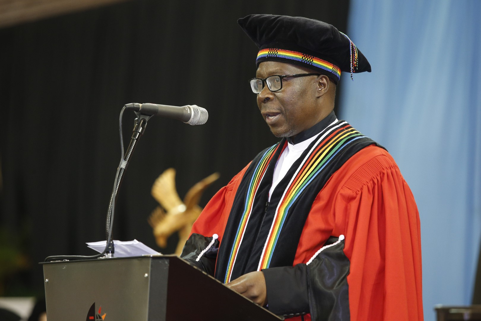 College of Humanities DVC Prof Nhlanhla Mkhize addresses the audience