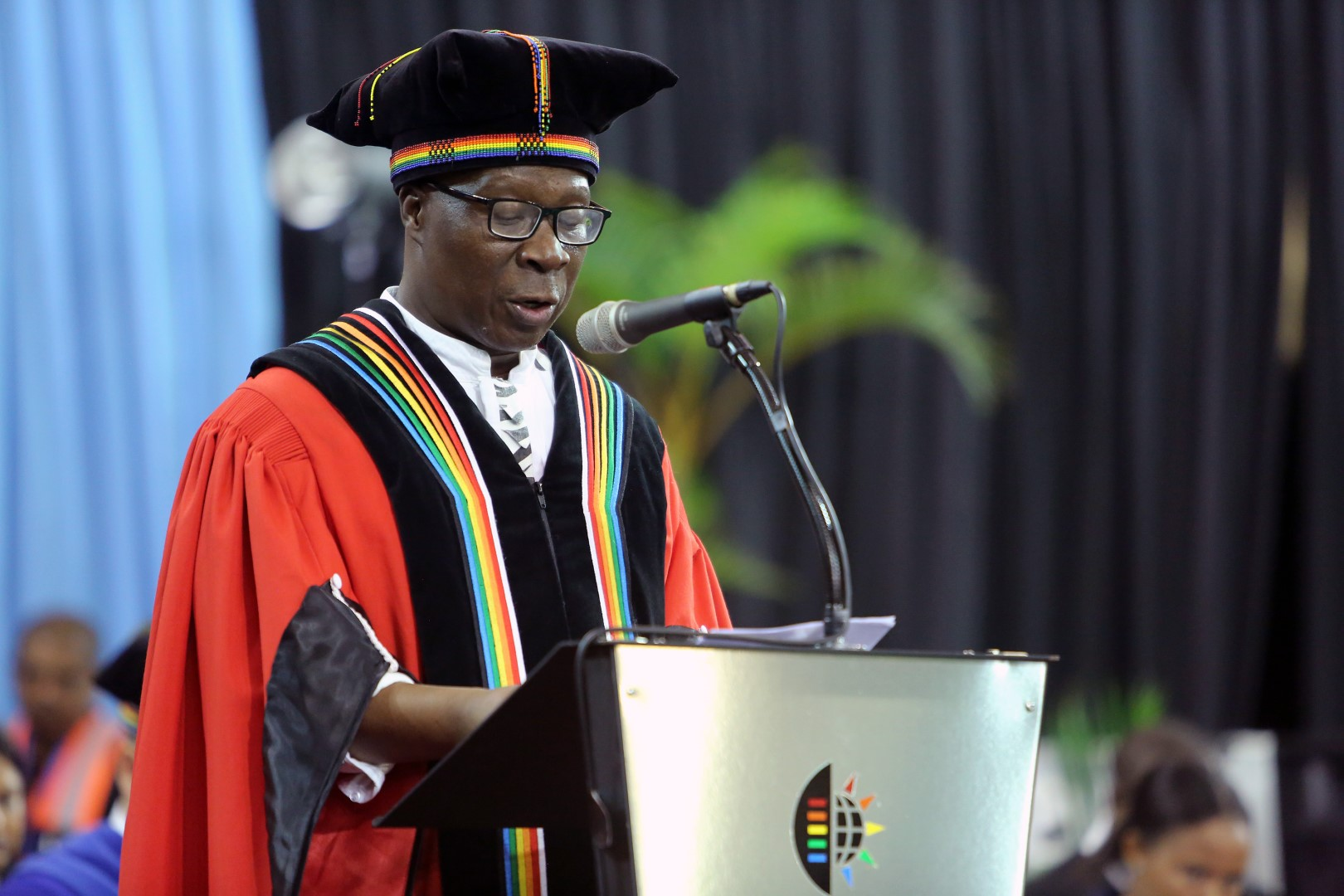 College of Humanities DVC Prof Nhlanhla Mkhize delivers his welcome address