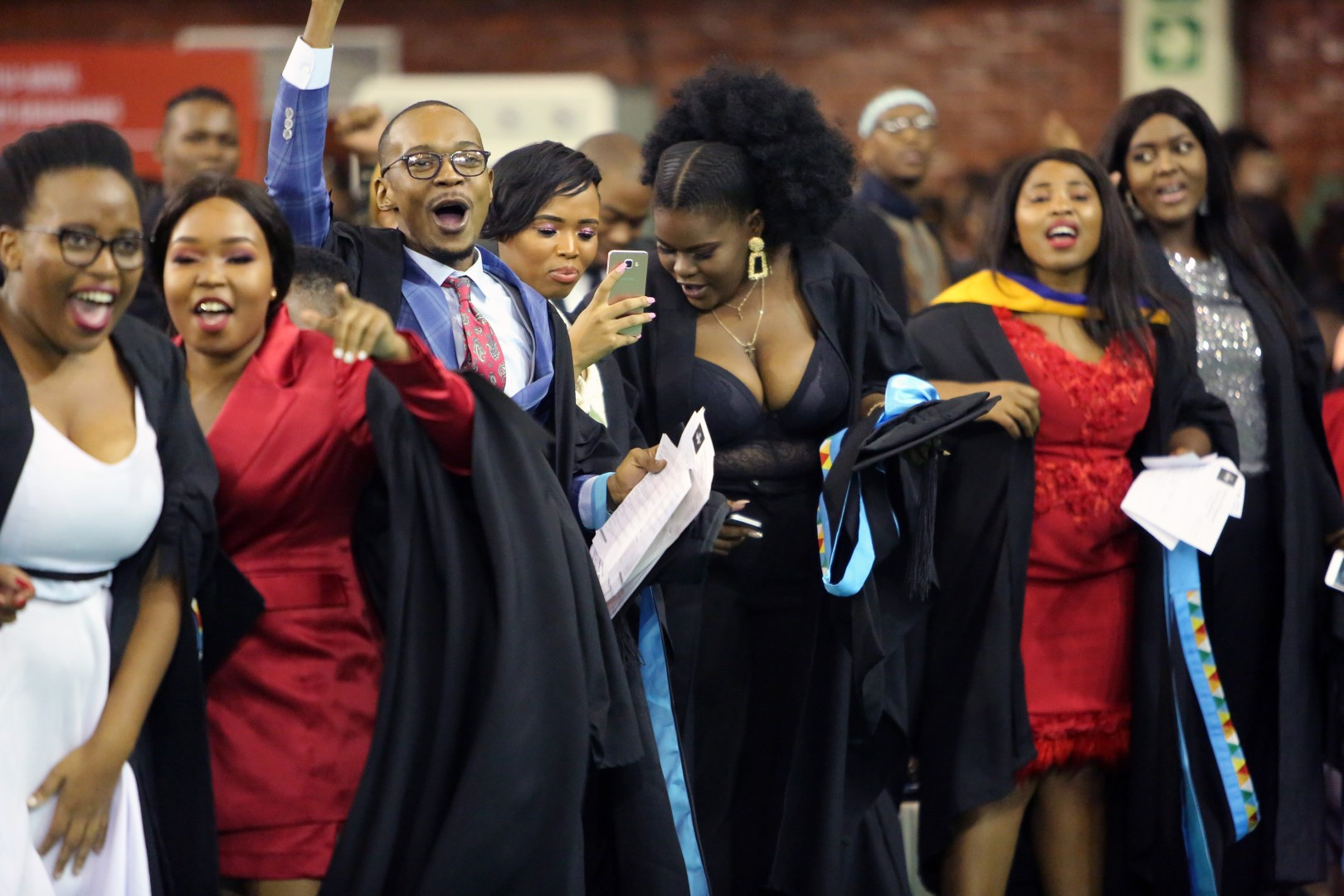 College of Humanities Graduates celebrate together