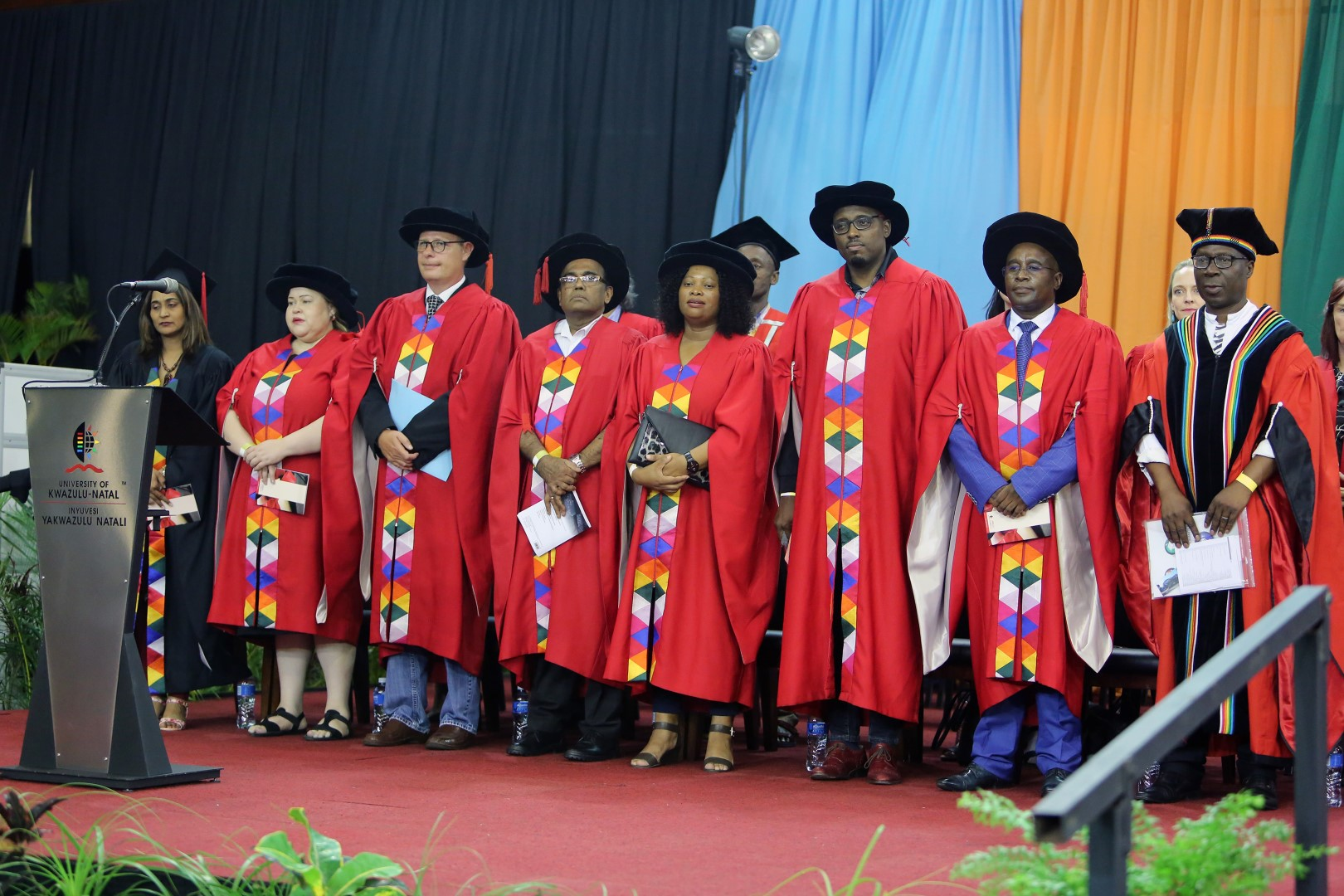College of Humanities academic procession onstage