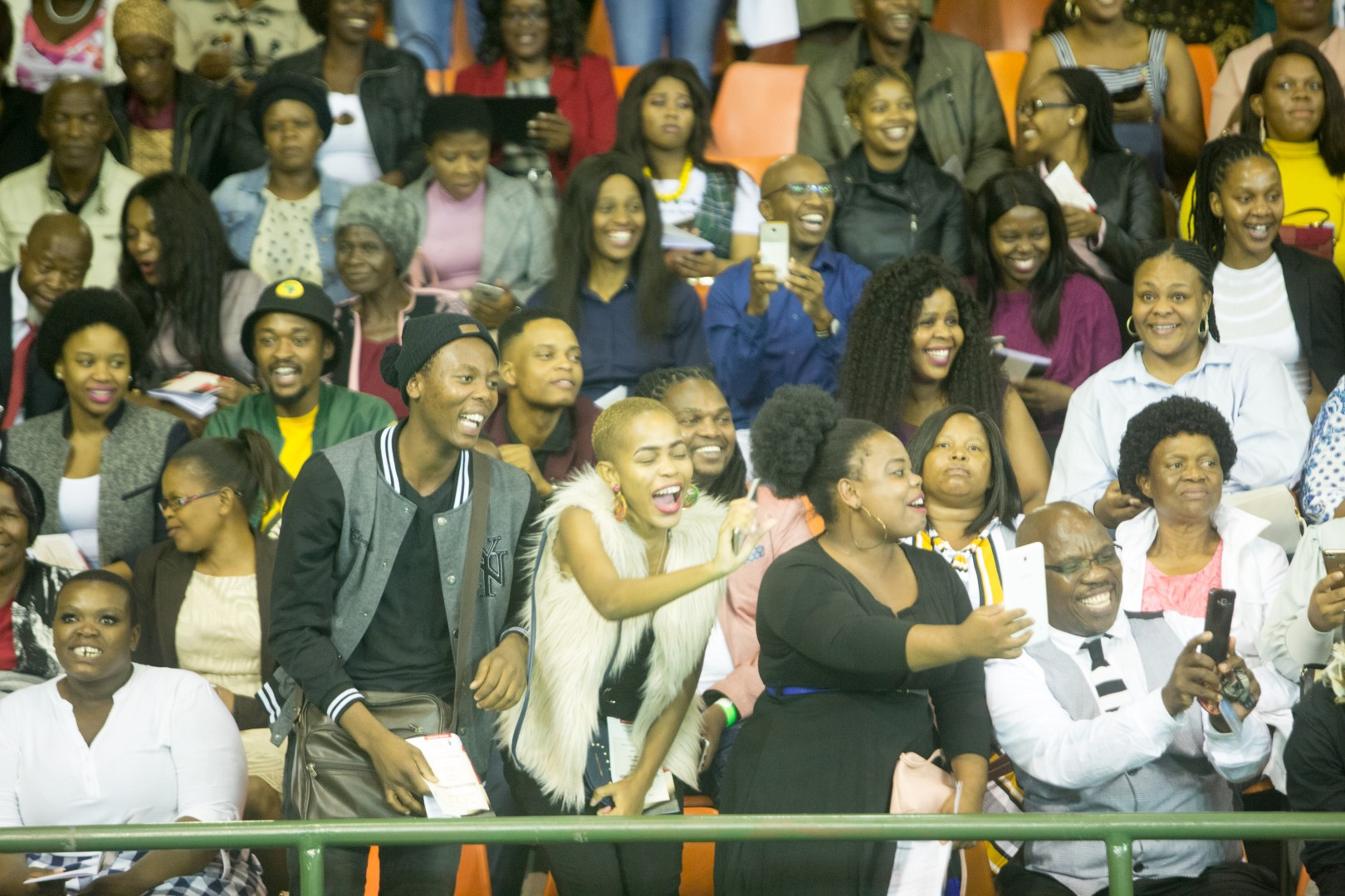 Excited family at the College of Humanities graduation ceremony