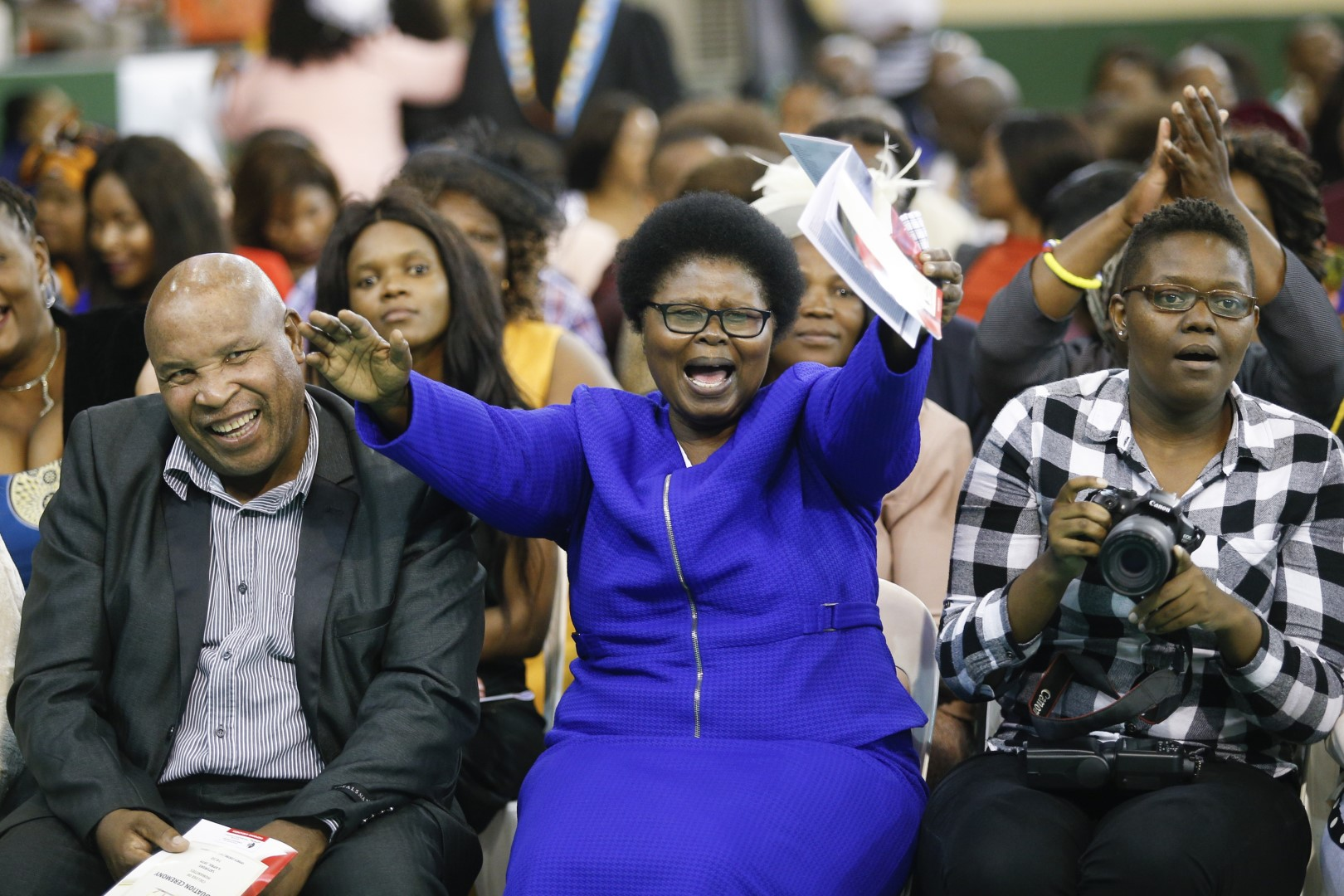 Excited parents at the UKZN graduation