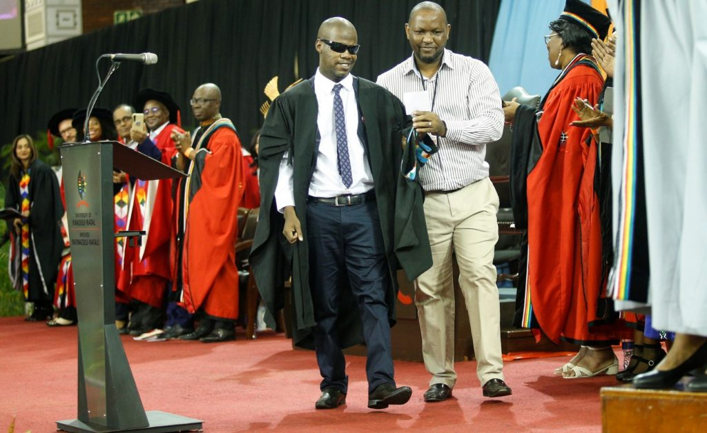 Blind Cricketer graduates from UKZN