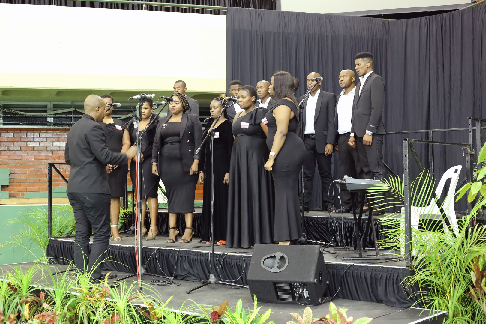 The UKZN Choir gets ready to sing