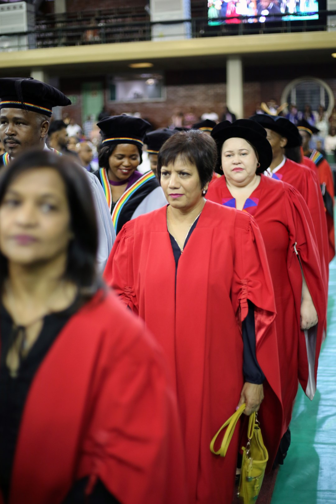 The academic procession enters the hall