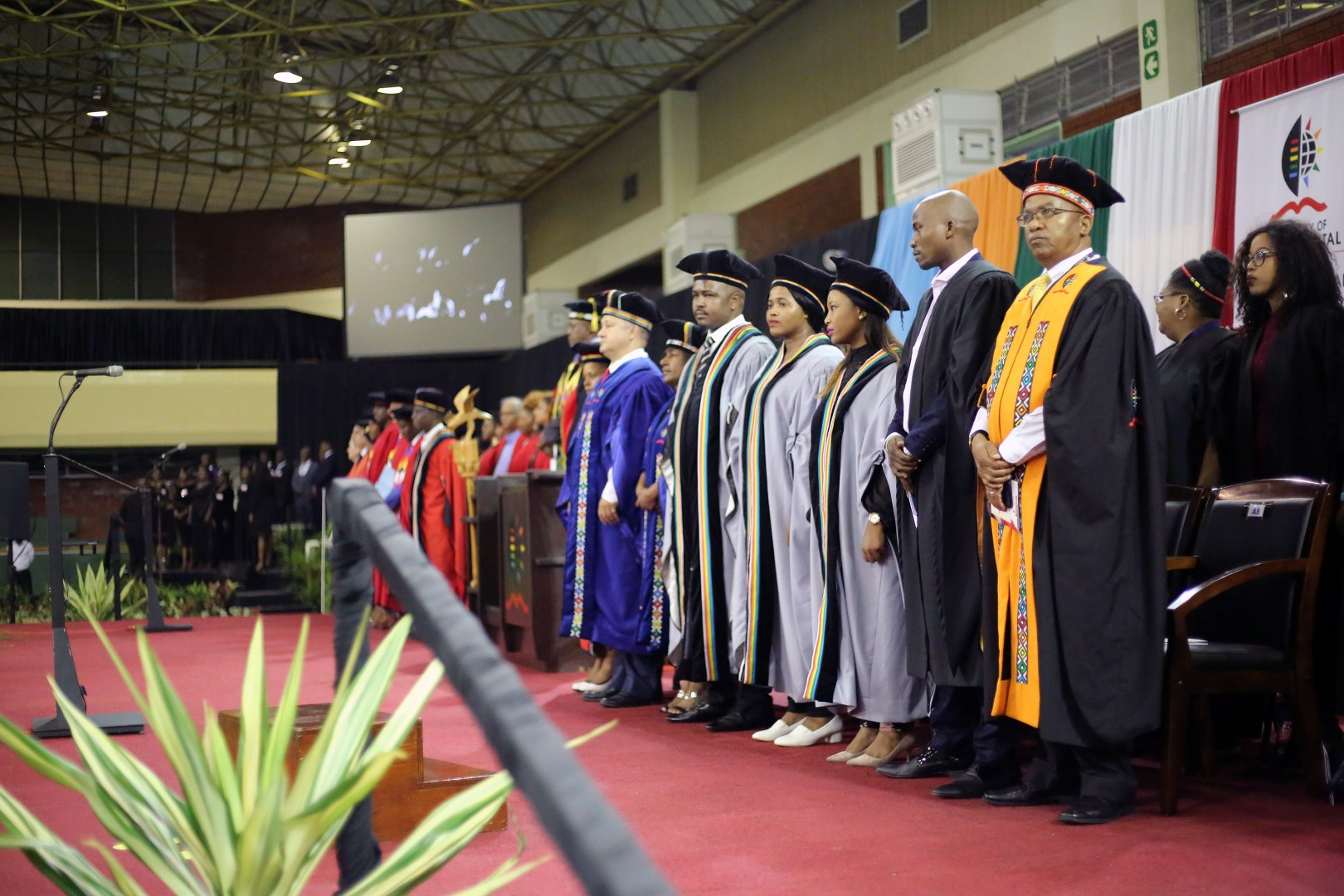 The academic procession onstage