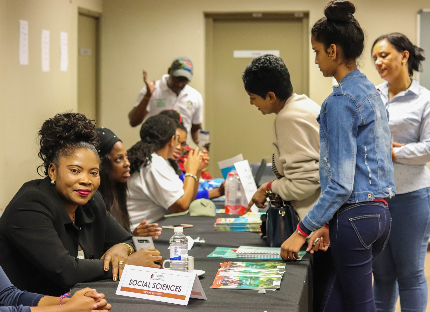 Learners and parents speak to College staff about programme offerings