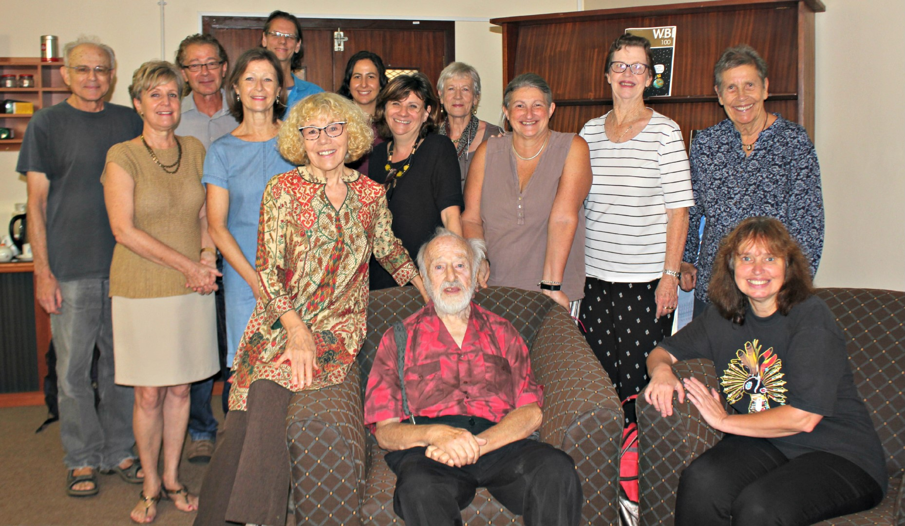 Professor Bernhard Kytzler (seated) seen with UKZN colleagues and friends during his farewell tea