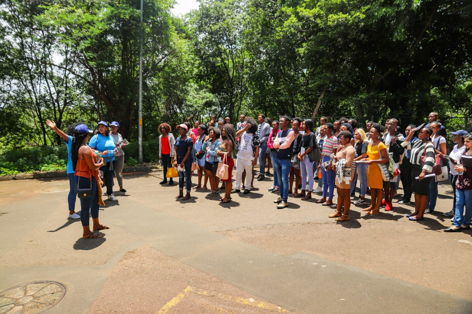 Students embark on a guided tour of UKZN campuses