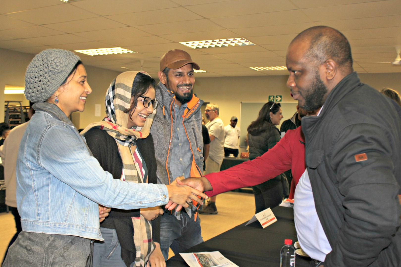 Students meet with lecturers during Parents Day