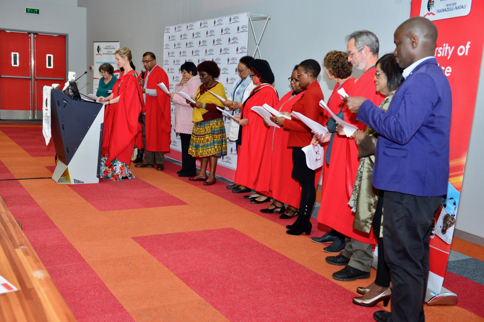 Poetry recited by UKZN academics as part of the lecture on poetry in professional learning