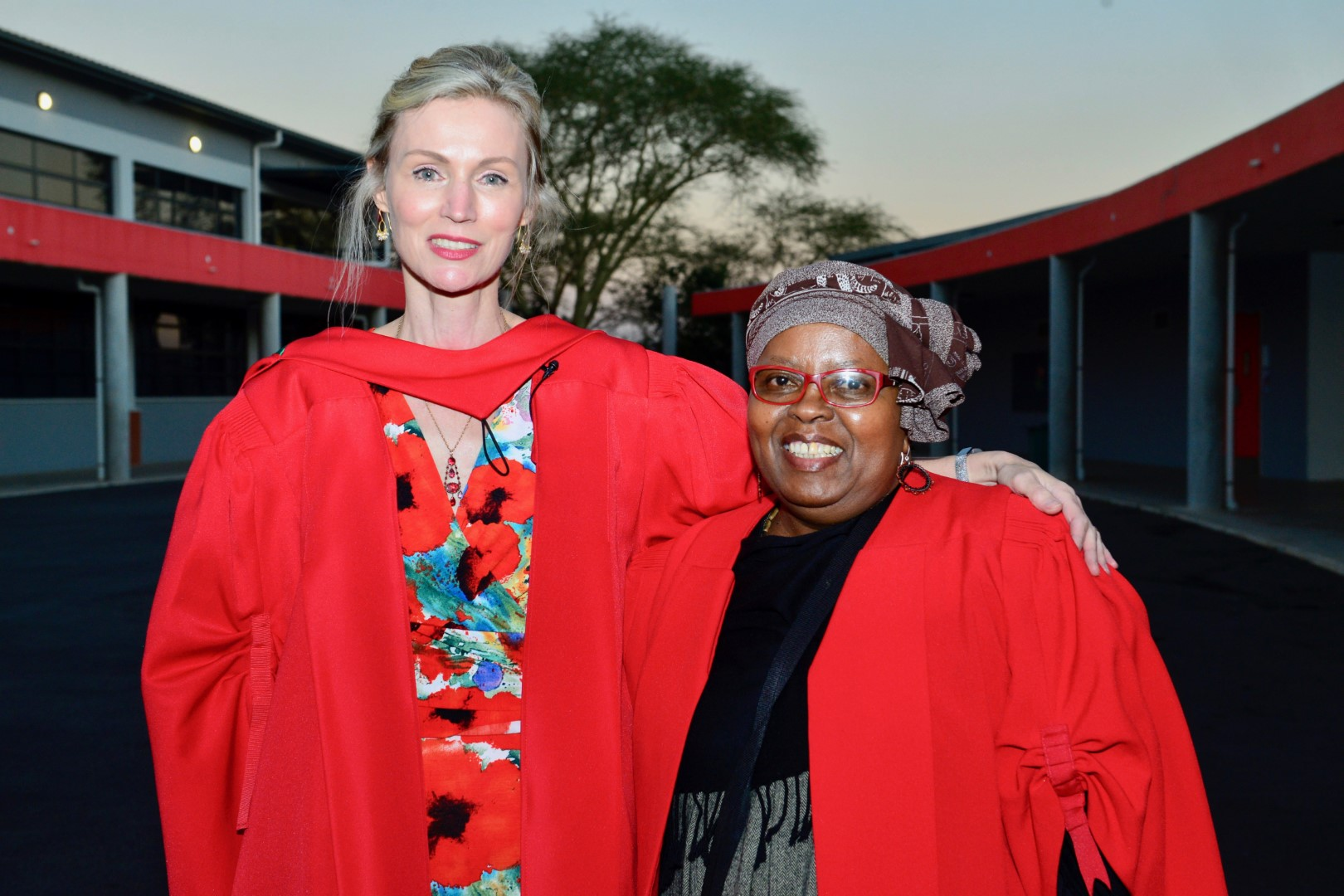 Prof Pithouse Morgan with her doctoral supervisor Prof Relebohile Moletsane
