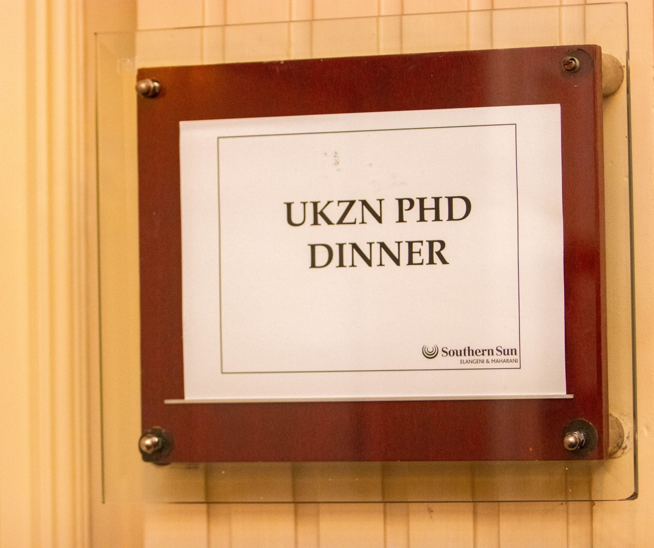 UKZN PhD dinner at the Maharani Hotel