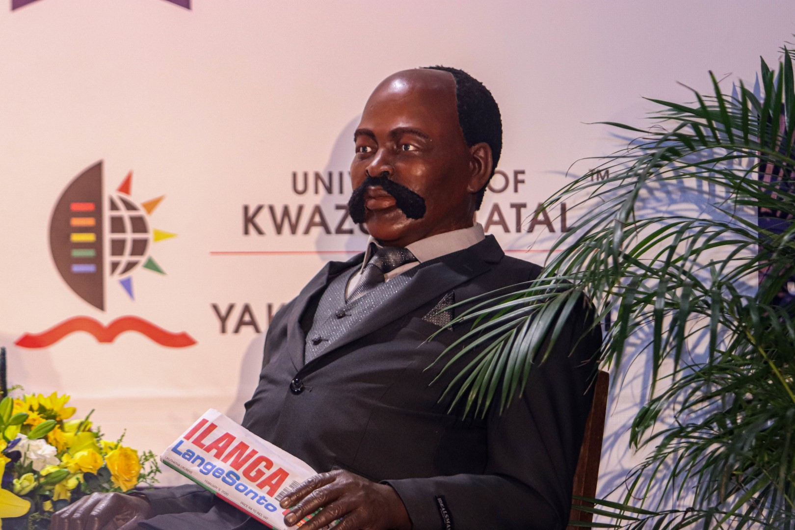 A wax figure of JL Dube take sthe spotlight at the Tribute lecture